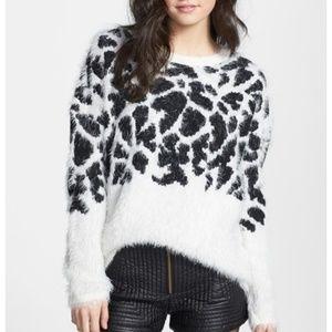 Sweaters - Leopard Eyelash Sweater